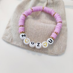 Bracelet LILA perles Heishi personnalisé