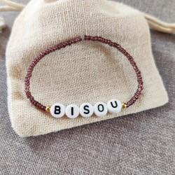 Bracelet AUBERGINE perles de rocailles...