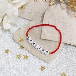 Bracelet ROUGE perles de rocailles...
