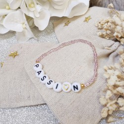 Bracelet ROSE PÂLE perles de rocailles...