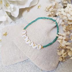 Bracelet BLEU CANARD perles de rocailles...