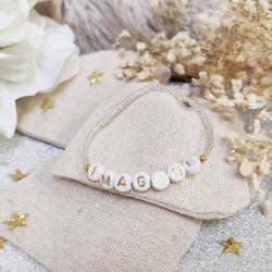 Bracelet TRANSPARENT BLANC perles de...