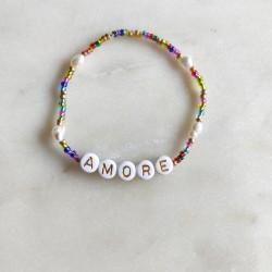 Bracelet MULTICOLOR perles de rocailles et...