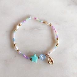 Bracelet PASTEL acidulé perles de...