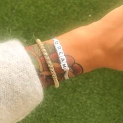 Bracelet DREAM - Ruban Organza argenté