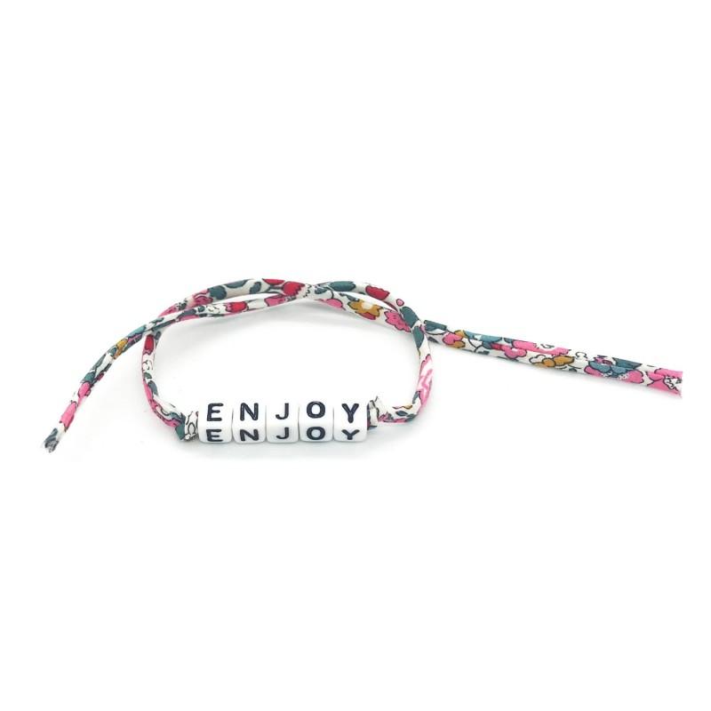 Bracelet ENJOY - Ruban liberty rose