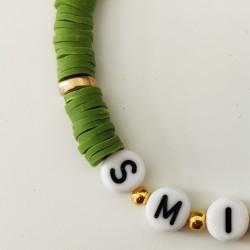 Bracelet KAKI perles Heishi personnalisé
